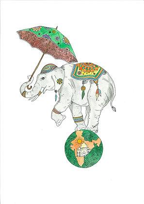 Elephant On World