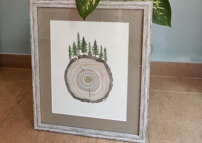Manali Tree Ring 52x44cm