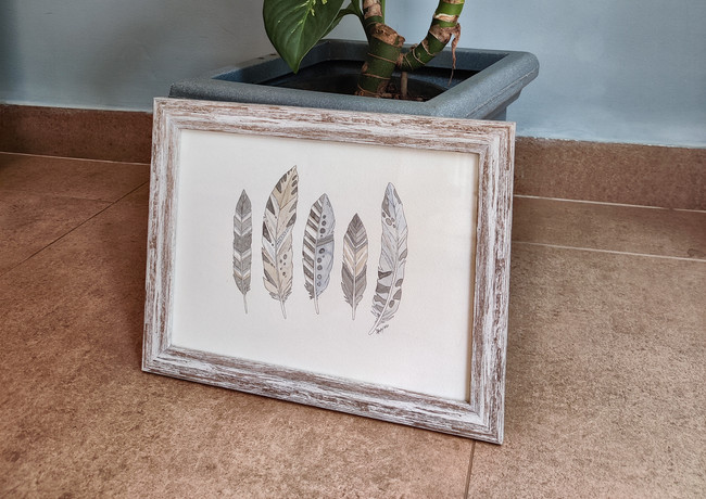 Small Feathers 27x34cm