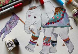 Baby elephant commission
