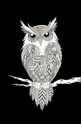 Owl (Size: A3)