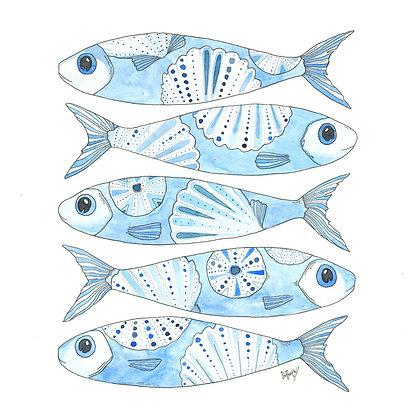 5 Blue Fish