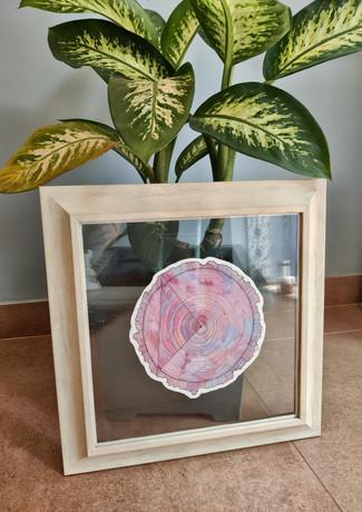 Pink Tree Ring 43x43cm