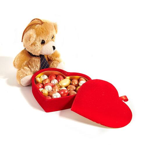 Draje - Kalp Kutu & Peluş Ayıcık