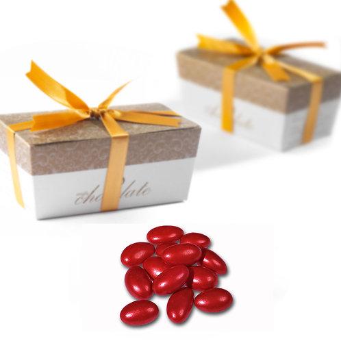 Bordeaux Red Almond Dragee (200 gr)