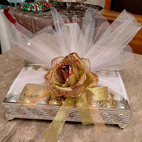 Cam Kutu - Yaldızlı Çikolata ve  Draje