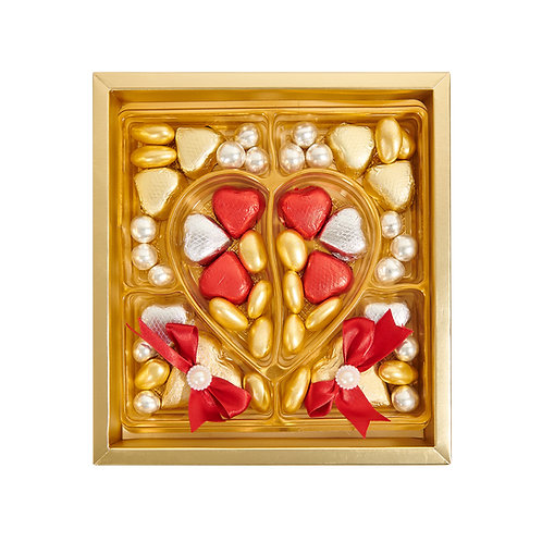 Golden Heart Gift Chocolate Box