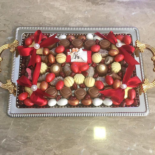 Proposal and Engagement Tray Lifelong Togather on a Pillow