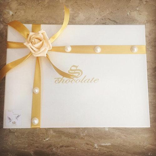 (Desen 14-26) İsim Yazılı Söz Nişan Çikolata Kutu