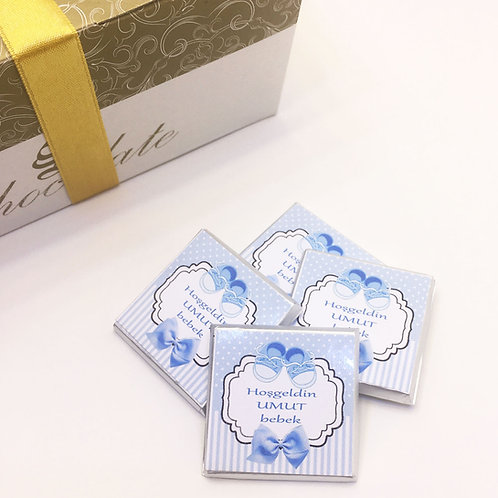 Booties Baby Boy - 60 Pieces of Written Madlen Chocolate