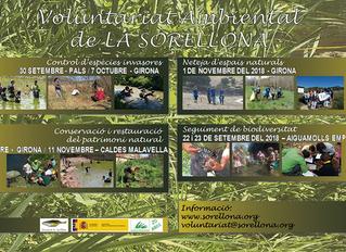 Comencem el programa de Voluntariat ambiental de la tardor 2018.