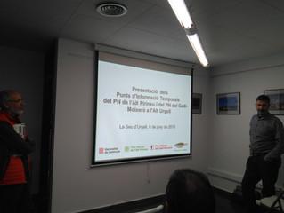 Presentencaió dels punts d'informació al Parc Natural del Cadí i Moixeró i el Parc Natural de l&