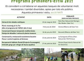 Participa al programa de voluntariat, primavera- estiu 2019