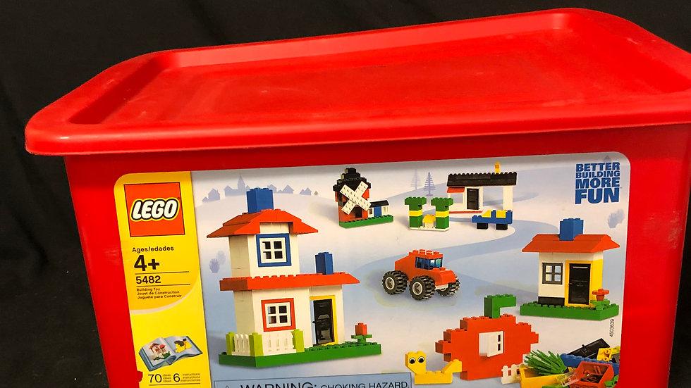2 lego bags with lego storage box