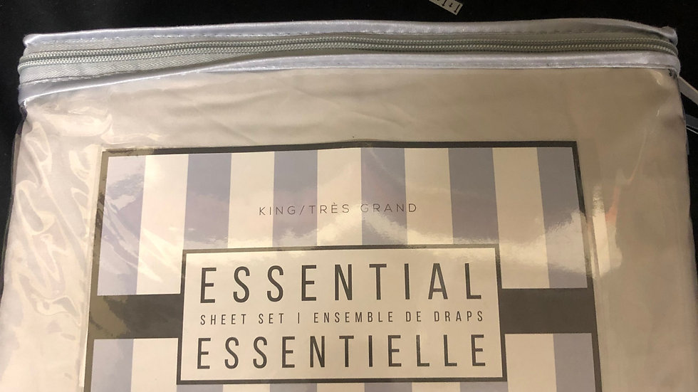 Essential Off white sheet set king size