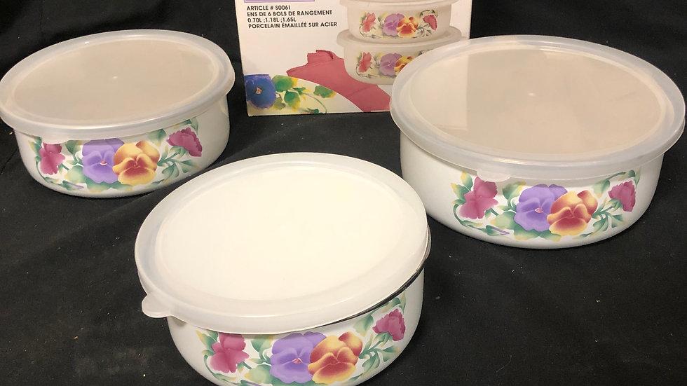 storage bowls summer blush