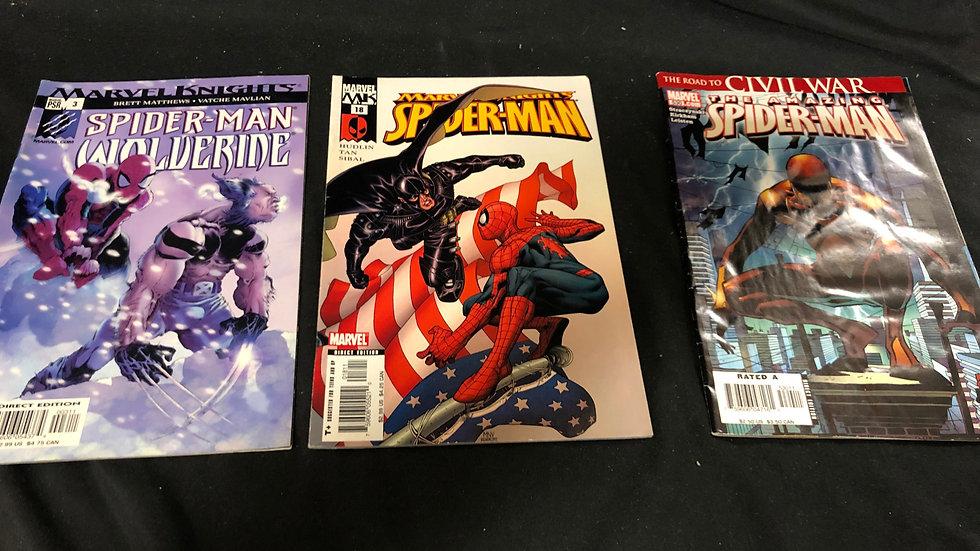 Spiderman bundle of 3