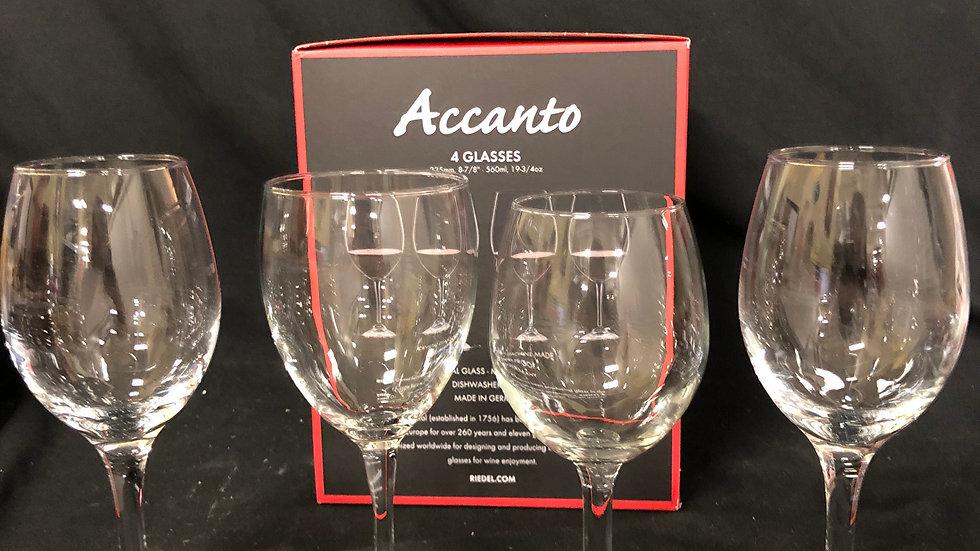 Riedel 4 different wine glasses