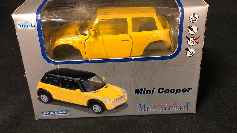 Mini Cooper Metal Model Kit