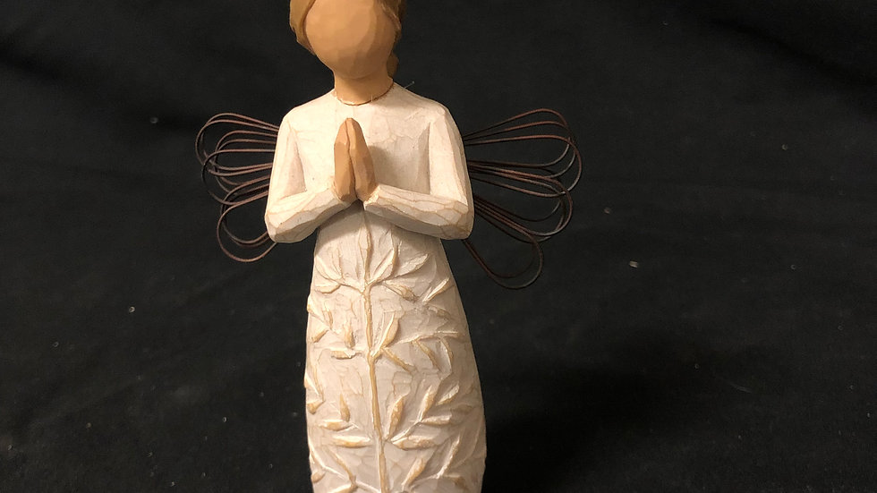 Angel Girl Praying Mini Sculpture