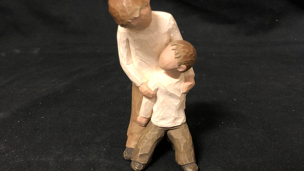 Willow Tree Sculpture Brothers playing