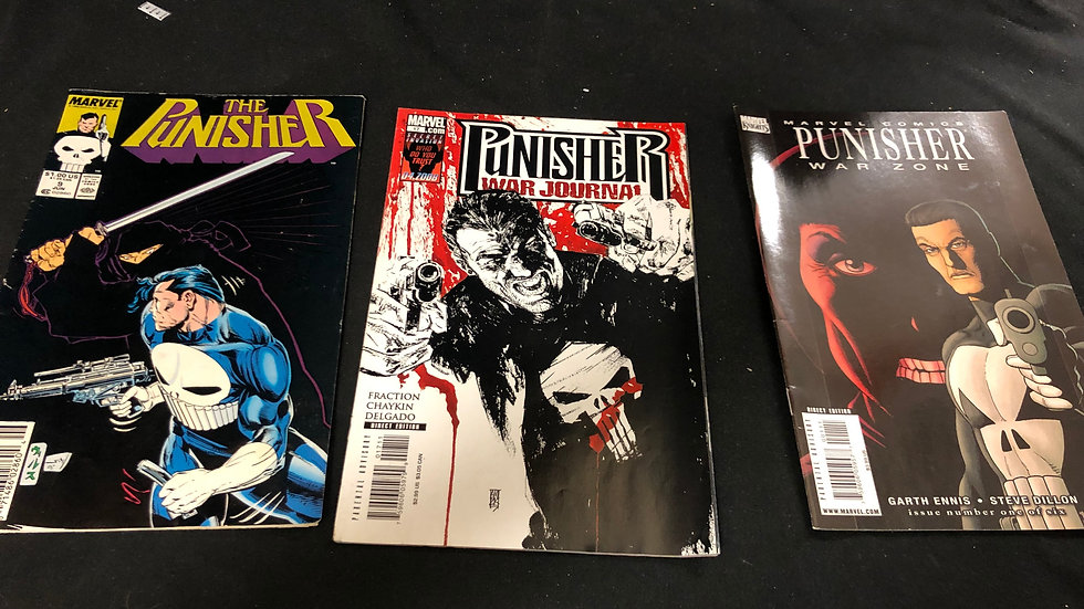 The punisher comic book bundle of 3