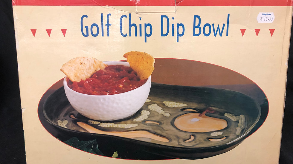 Golf Chip Dip Bowl