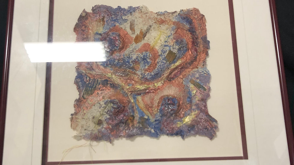 Art texture framed