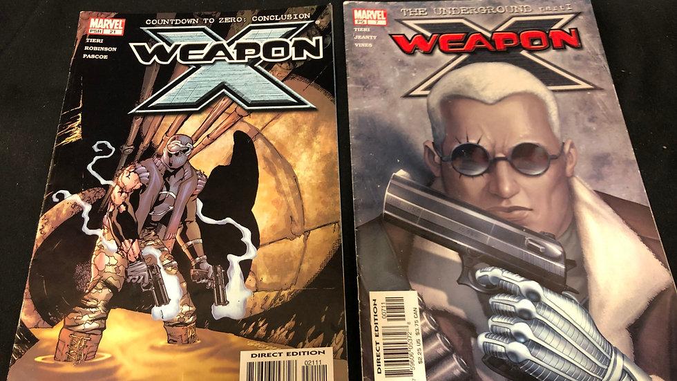 X weapon comic book bundle of 2