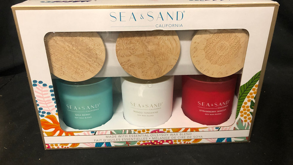 Sea Sand soy wax candles