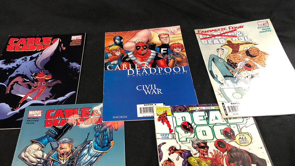 Cable and Deadpool bundle of 5