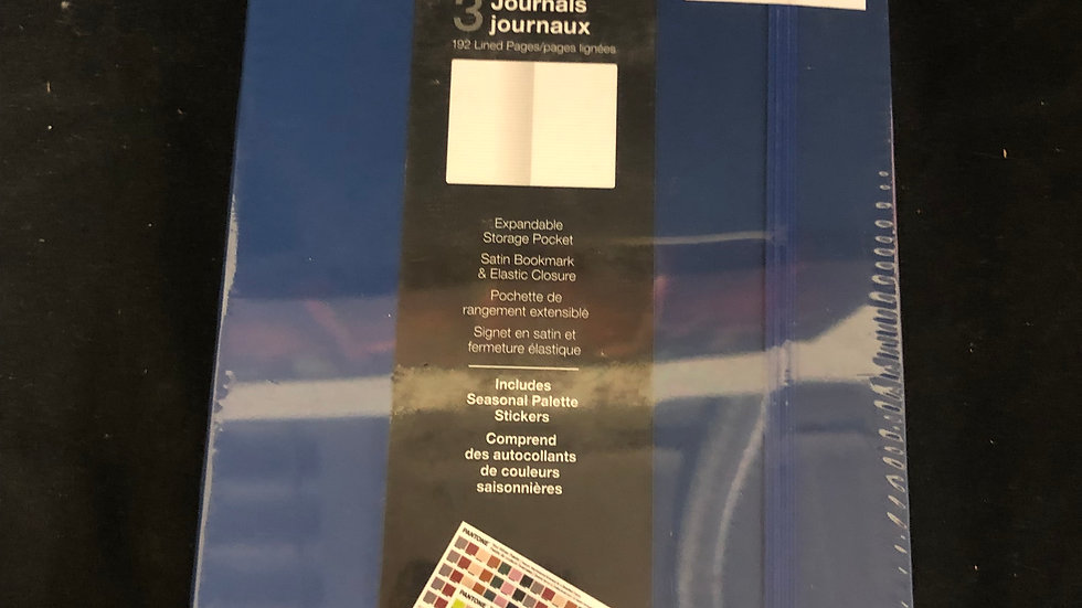 Pantone 3 sealed lined journals