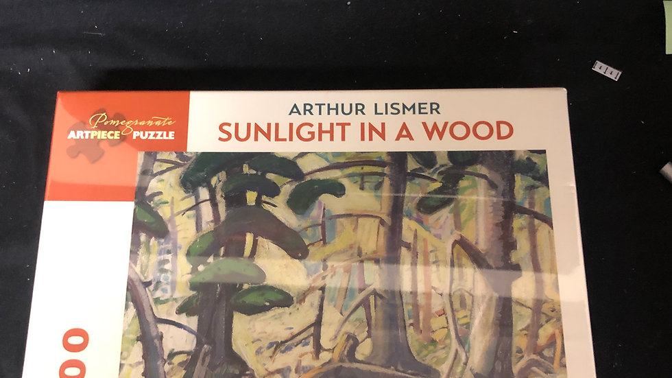Sunlight in a wood 1000 piece puzzles