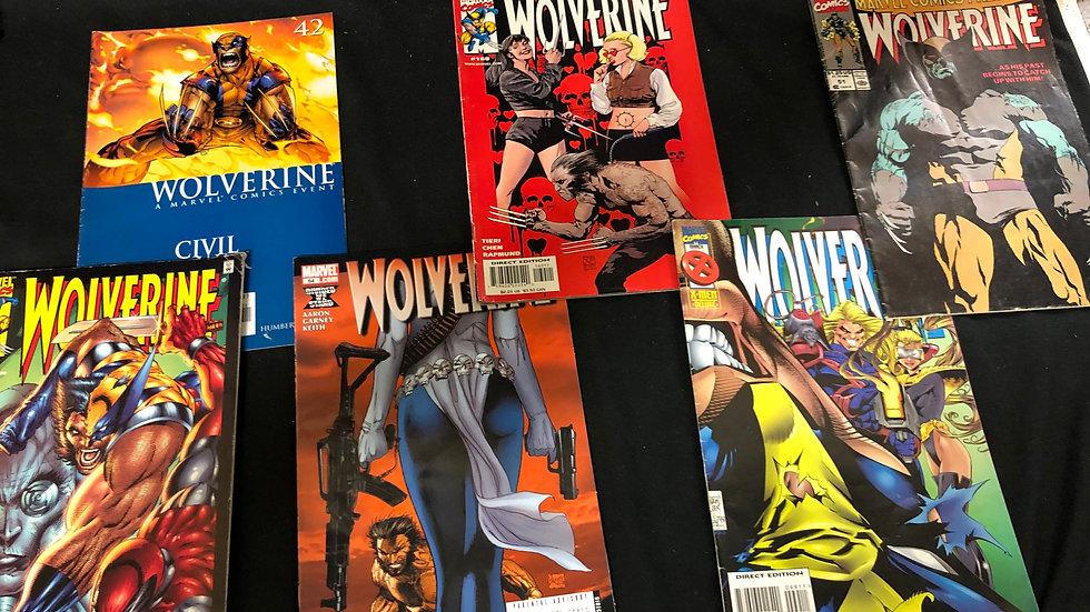 Wolverine comic book bundle