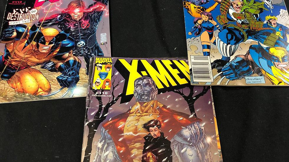 3 x men comic books