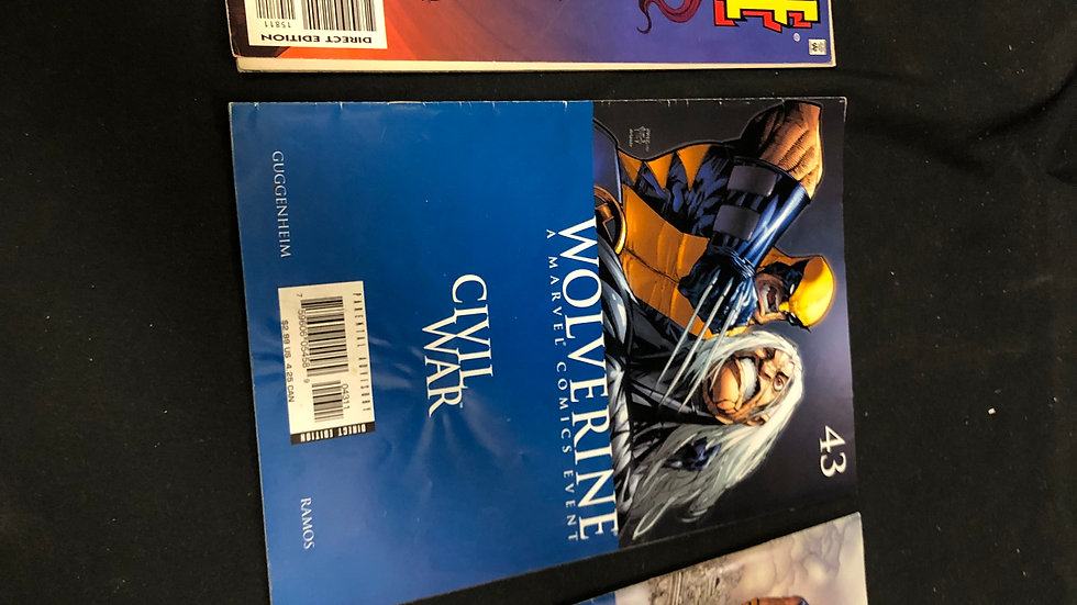 3 Wolverine comic books bundle