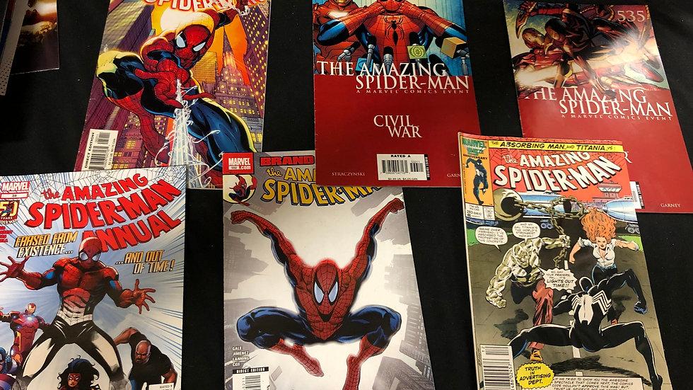 Spiderman bundle of 6 comic books