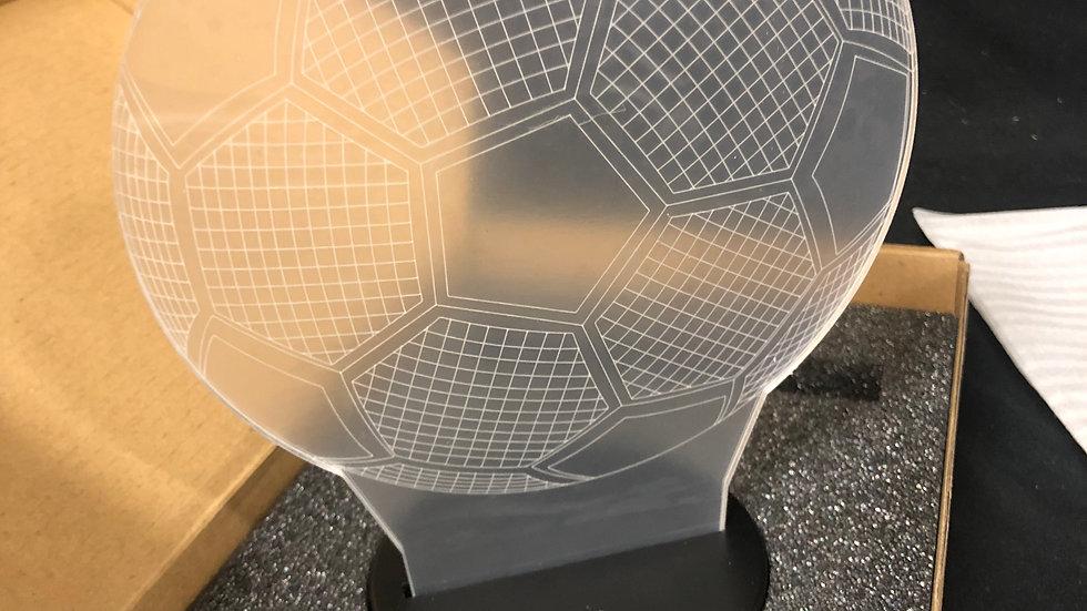 Soccer ball 3d lamp
