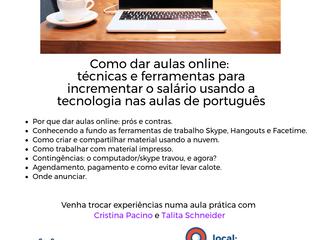 I JORNADA DE FORMAÇÃO PARA PROFESSORES DE PLE - 2017, ORGANIZADO PELA APLEPES