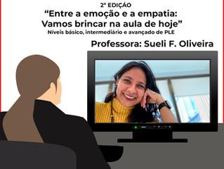 """WEBINÁRIO DE PORTUGUÊS - """"Entre a emoção e a empatia: Vamos brincar na aula de hoje"""""""