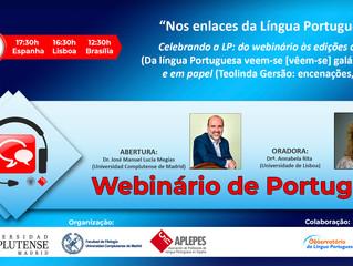 Webinário de Português lança duas obras portuguesas, no dia 23 de maio
