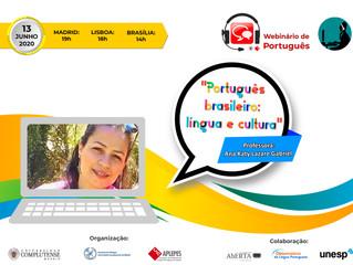 """Webinário: """"Português brasileiro: língua e cultura"""""""