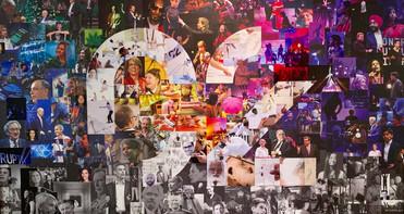 """C2 AU FIL DES ANS 2018 C2 THROUGH THE YEARS 2018  Murale corporative (Montréal) Corporate artwork (Montreal) Papiers / papers  20""""x30"""""""