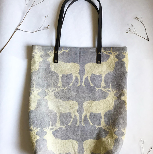Canadian Lilac Moose Travel Tote