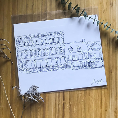 Brock Street Stores- Contemporary Illustrations