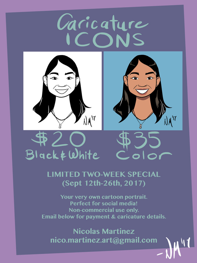 Caricature Icon Commissions