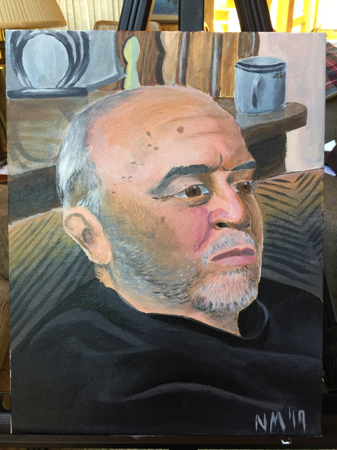 Finally finished! An acrylic painting of my father, Jorge Martinez.