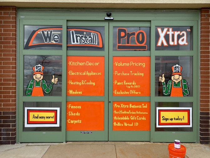 Home Depot Window Painting