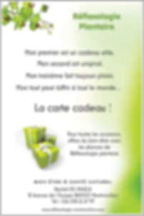 Bon cadeau reflexologie plantaire & MTC montmorillon