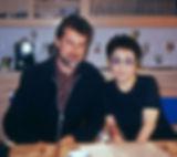 Simon Prentis with Yoko Ono
